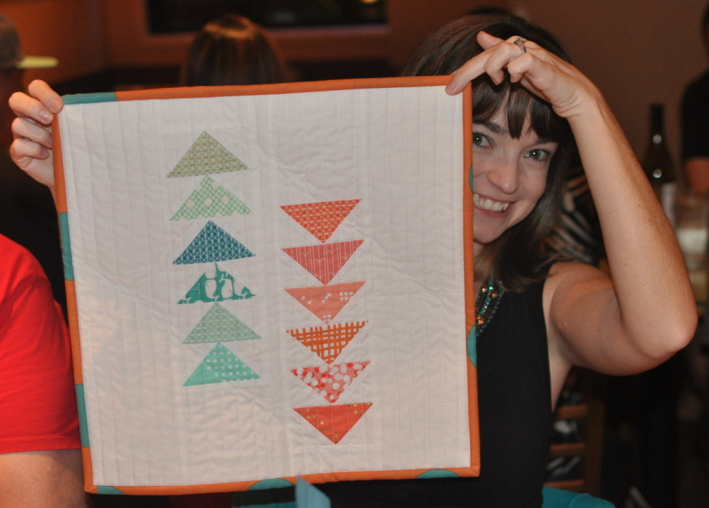 Mai's flying geese quilt