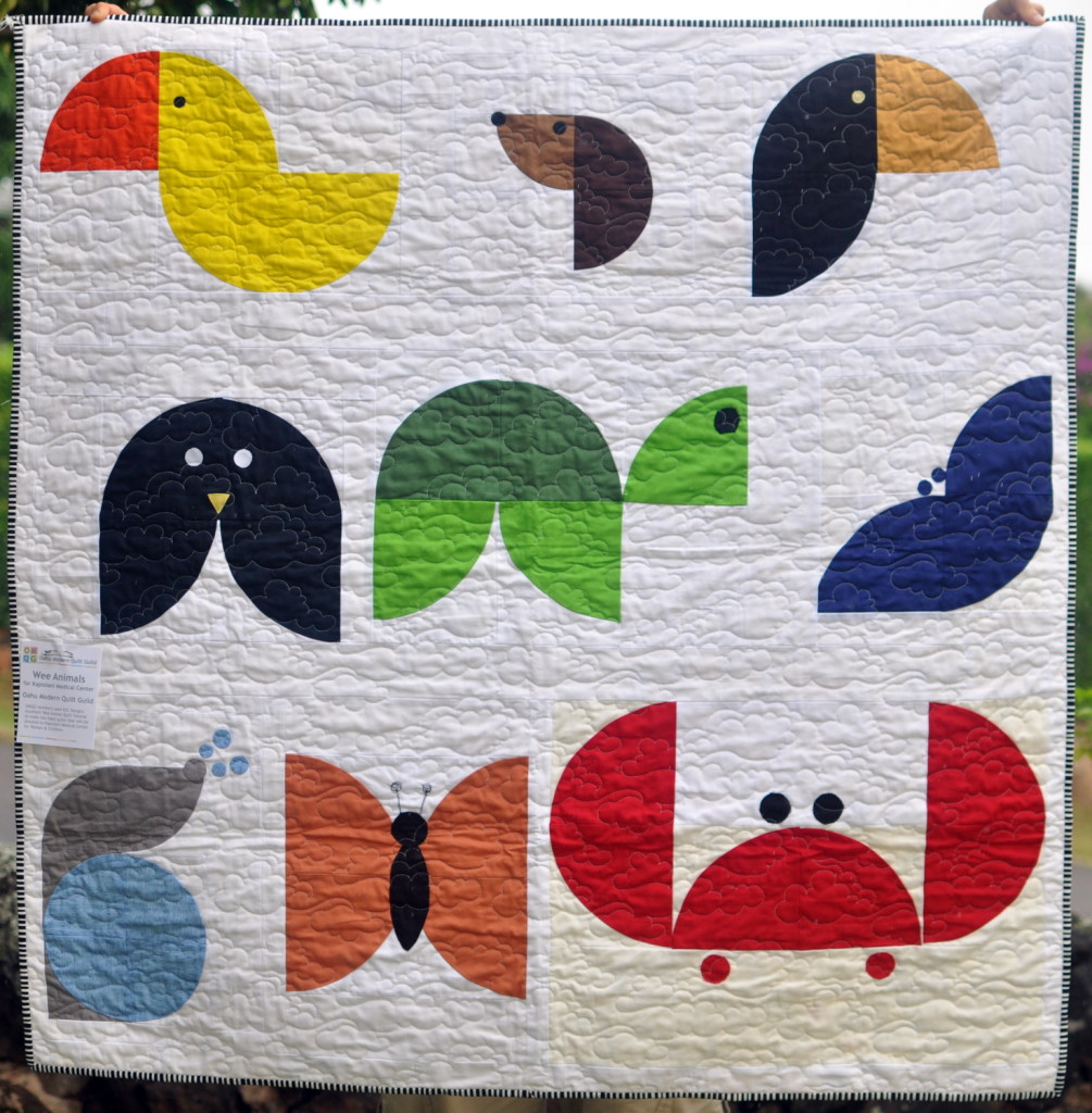 Oahu MQG's wee animals quilt